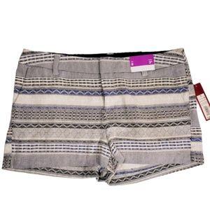 NWT Merona Women's Chino Shorts Size 8 Blue navy